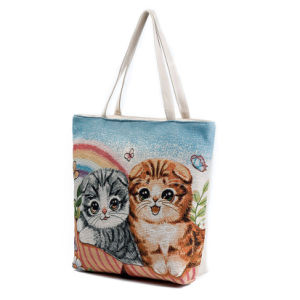 Customized Promotional Handle Organic Cotton Shopping Bag pictures & photos
