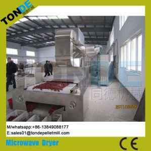 Industrial Tunnel Medicine Microwave Sterilization Conveyorized Dryer Machine pictures & photos