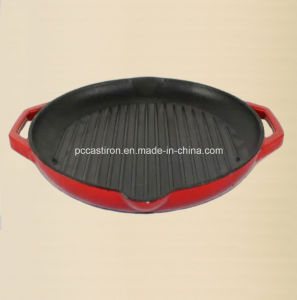 Preseasoned Cast Iron Griddle Grill Pan for Steak Cooking pictures & photos