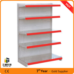 Steel Perforated Back Panel Supermarket Display Rack pictures & photos