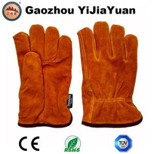 Ab Grade Cow Split Leather Winter Drivers Gloves for Driving with Thinsulate Lining pictures & photos