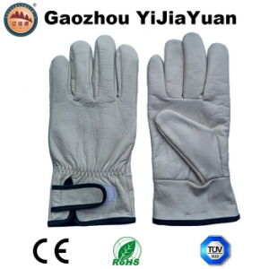 Cow Grain Leather Industrial Work Brazing Gloves pictures & photos