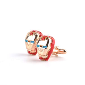 Alloy Marvel Comics Iron Man Mask Enamel Cufflinks pictures & photos