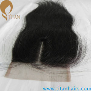 Indian Virgin Hair Middle Part Lace Closure with Baby Hair