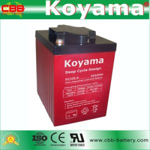 Guangzhou 6V 225ah Deep Cycle Marine Battery DC225-6 pictures & photos