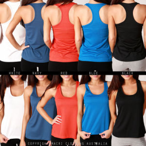 Women Wholesale Plain Cotton/Spandex Tank Tops/Vests/Singlet (A853)