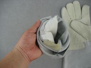 Short Cow Grain Palm Welding Work Glove--9981 pictures & photos