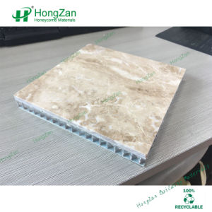 Decorative Natural Stone Aluminum Honeycomb Sandwich Panel with Marble Grain pictures & photos
