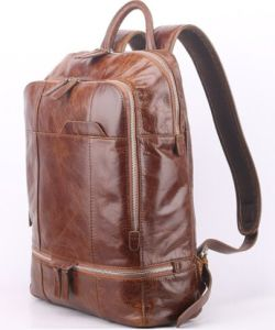 Genuine Leather Backpack for Men′s Shoulder Leather Messenger Bags pictures & photos
