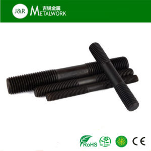 Black Oxide Galvanized Double End Stud Bolt (grade 8.8 grade 10.9) pictures & photos