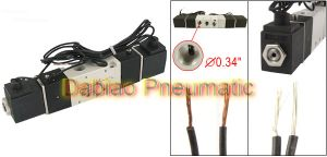High Quality 1/8′′ Outlet and Inlet 4V120-06 AC220V 2.5W 2 Position 5 Way Pneumatic Valve Dual pictures & photos
