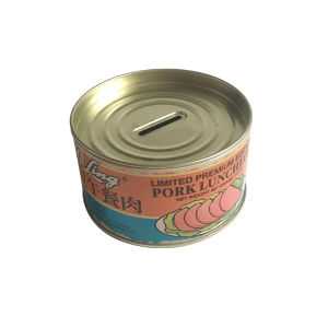 Meat Tin Box Piggy Bank Wholesale Tin Container pictures & photos