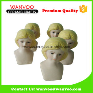 Unique Hand Made Ceramic Doll Head Statue for Holiday Decoration pictures & photos