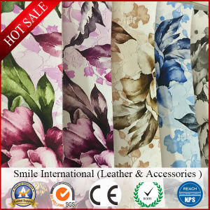 Digital Printing PVC Film Synthetic Leather with Tc Backing pictures & photos