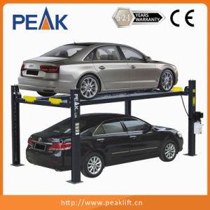 3500kg Cable-Drive Four Post Automotive Lifter for Parking (408-P) pictures & photos