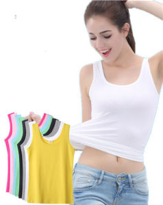 Lady Fashion Knit Sleeveless Summer Modal Tanktops pictures & photos