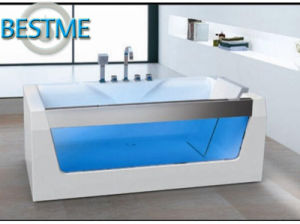 Bathroom Freestanding Whirlpool Jacuzzi Acrylic Massage Bath Tub with Glass Sanitary Wares (BT-A1020) pictures & photos