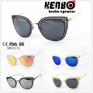 Fashion Metal Sunglasses with Stenciled Design Cateye Shape Colourfull Frame Km16151 pictures & photos