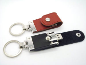 Logo Printed Business Gift Leather USB Stick 4GB 8GB 16GB pictures & photos