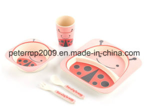 Popular Bamboo Fiber Food Grade High Quality Kids Dinnerware Set pictures & photos
