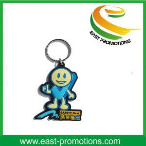 Custom Soft PVC Plastic Keychain with Logo printing pictures & photos