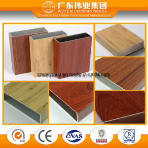 Wood Grain Surface Aluminium Extrusion for Window and Door pictures & photos