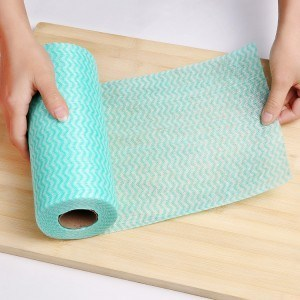 Green Perforated Wipes 45m Roll pictures & photos