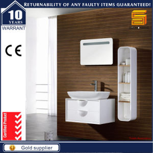 Sanitary Ware White Lacquer MDF Bathroom Cabinet Furniture for Hotel pictures & photos
