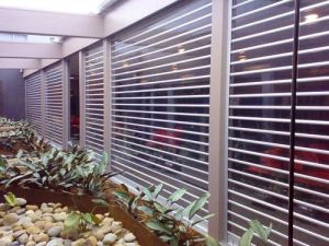 Commercial Polycarbonate Rolling Security Motorized Grilles Hurricane Shutter Door (Hz-PRS07) pictures & photos