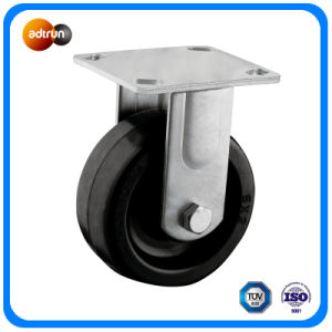 Heavy Duty Rubber Fixed Caster Wheels pictures & photos
