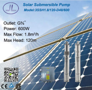 Solar DC Stainless Steel Submersible Pump 3ssh1.8/120-D48/600 pictures & photos