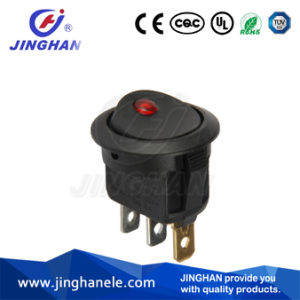 Red LED DOT Mini Round Type Rocker Switch on-off pictures & photos