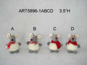 "7""H Christmas Decoration Boy and Girl Mouse-2asst. pictures & photos"