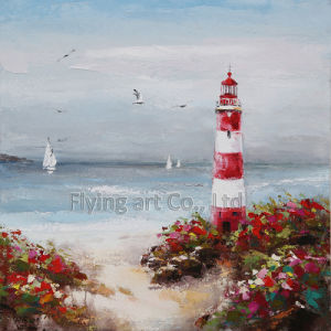 Reproduction Seascape Craft Art Oil Painting for Lighthouse pictures & photos