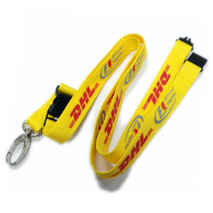 Cheap Printed Black Color Custom Made Lanyards with ID Card Holder pictures & photos