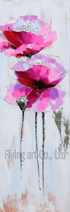 Handmade Palette Knife Modern Flower Oil Painting on Canvas pictures & photos