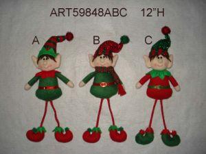 Christmas Decoration Ornament Dangle Elf, 3 Asst pictures & photos