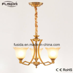 Pendant Lighting Luxurious Bronze Color Chandelier Light with Flower Glass Shape D-6115/3 pictures & photos