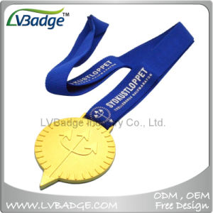High Quality Sports Gold Medal with Lanyard pictures & photos