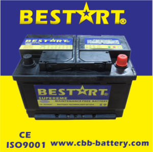 12V66ah New Automobile Car Batteries for Auto Vehicle Start pictures & photos