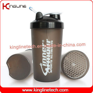 700ml plastic protein shaker bottle with lid (KL-7034G) pictures & photos