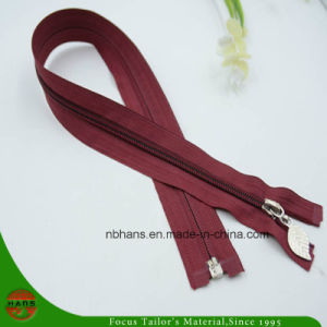 5# Nylon Open End Zipper with Leaf Slider (HAZN0001) pictures & photos