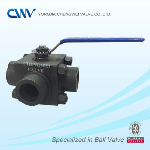 Three Way Floating Ball Valve