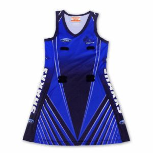 2015 Newest Fashion Custom Full Printing Netball Dress pictures & photos