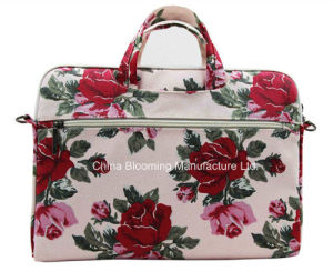 Flower Polyester Laptop Computer Briefcase Tablet Notebook Sleeve Bag pictures & photos