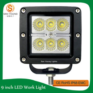 Flush Mount 18W CREE LED Work Light off Road Driving Light pictures & photos