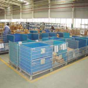 Foldable Warehouse Stackable Mesh Container pictures & photos