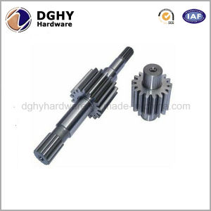 Chinese Factory Customized CNC Machining Transmission Spline Long Gear Shaft pictures & photos