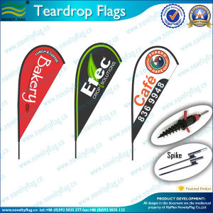 Outdoor Custom Teardrop Flags for Advertising/Teardrop Banners (L-NF04F06064) pictures & photos