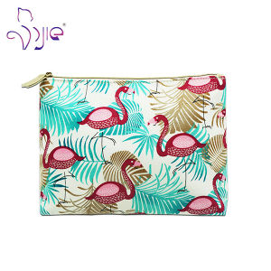 100% Cotton Blue Printing Zipper Woman Makeup Cosmetic Bag pictures & photos